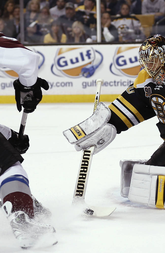 Giguere stops 39 shots in Avs' shutout of Bruins