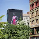 CLEVELAND, OH - JULY 11: Billboards light up signaling the return of LeBron James to the Cleveland Cavaliers on July 11, 2014 in Cleveland, Ohio. (Photo by David Liam Kyle/NBAE via Getty Images)