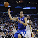 Los Angeles Clippers forward Blake Griffin (32) looses the ball as New Orleans Pelicans forward Tyreke Evans (1) defends in the first half of an NBA basketball in New Orleans, Monday, Feb. 24, 2014 The Associated Press
