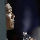 New York Mets pitcher Daisuke Matsuzaka, of Japan, looks toward the field during the eighth inning of a baseball game against the Atlanta Braves, Saturday, April 19, 2014, in New York The Associated Press