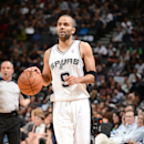 Tony Parker #9 of the San Antonio Spurs dribbles up the court against the Dallas Mavericks in Game Five of the Western Conference Quarterfinals during the 2014 NBA Playoffs on April 30, 2014 at the AT&T Center in San Antonio, Texas. (Photo by Garrett W. Ellwood/NBAE via Getty Images)