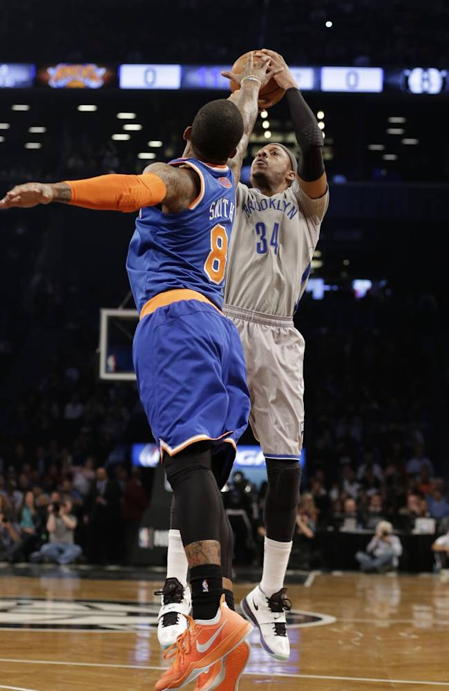 Knicks pound Nets again as Anthony sits
