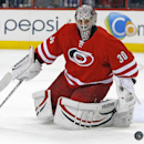 Carolina Hurricanes goalie Cam Ward (30) deflects a shot wide of the net during the first period of an NHL hockey game against the Ottawa Senators in Raleigh, N.C., Sunday, Nov. 24, 2013 The Associated Press