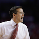 FILE - In this Jan. 20, 2014, file photo, Nebraska coach Tim Miles shouts instructions in the first half of an NCAA college basketball game against Ohio State in Lincoln, Neb. Nebraska was the surprise team in the Big Ten with its fourth-place finish last season, and coach Miles believes he has the pieces in place for a big encore. (AP Photo/Nati Harnik, file)