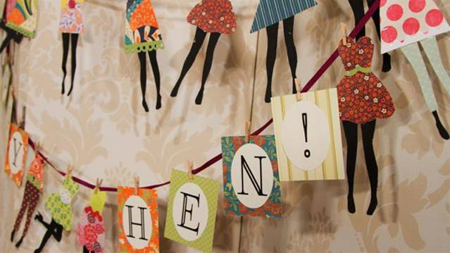 How To Make Bunting For A Hen Party