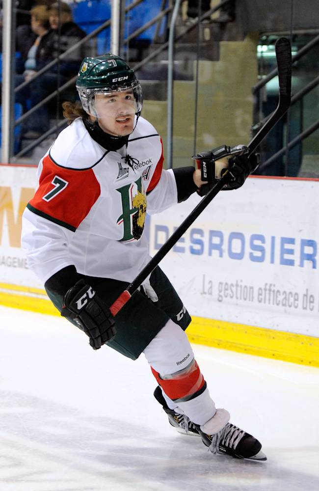 Trey Lewis #7 of the Halifax Mooseheads