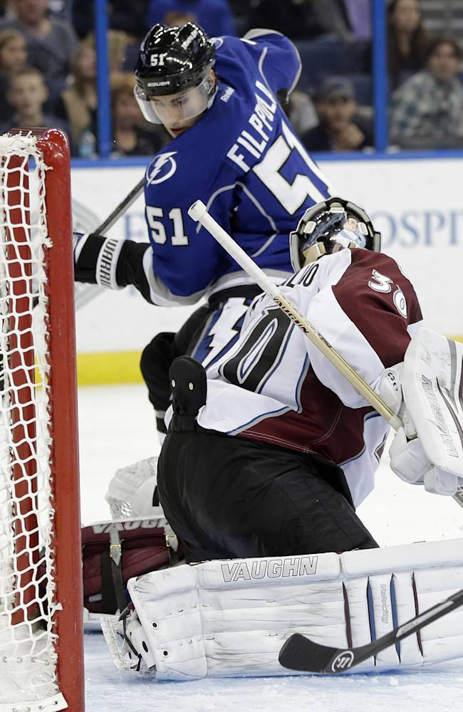 Johnson has 3 goals, Lightning beat Avalanche, 5-2