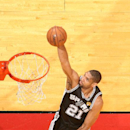 MIAMI, FL - JUNE 20: Tim Duncan #21 of the San Antonio Spurs goes up to shoot while playing against the Miami Heat in Game Seven of the 2013 NBA Finals on June 20, 2013 at American Airlines Arena in Miami, Florida. (Photo by Nathaniel S. Butler/NBAE via Getty Images)
