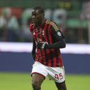 In this picture taken Saturday, Nov. 23, 2013, AC Milan forward Mario Balotelli controls the ball during a Serie A soccer match between AC Milan and Genoa, at the San Siro stadium in Milan, Italy. Liverpool could be about to replace one controversial stri
