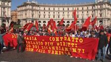 Rome protest turns up heat on Letta