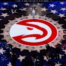 ATLANTA, GA - APRIL 22: The national anthem is performed before Game Two of the Eastern Conference Quarterfinals between the Atlanta Hawks and the Brooklyn Nets during the 2015 NBA Playoffs on April 22, 2015 at Philips Arena in Atlanta, Georgia. (Photo by Reid Kelley/NBAE via Getty Images)
