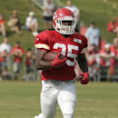 Kansas City Chiefs running back Jamaal Charles (25) runs during training camp NFL football practice Friday, Aug. 1, 2014, in St. Joseph, Mo The Associated Press