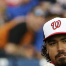 Washington Nationals' Anthony Rendon plays in the second inning of an exhibition spring training baseball game against the New York Mets, Thursday, March 5, 2015, in Viera, Fla. (AP Photo/David Goldman)