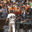 Bumgarner homers, pitches Giants past A's, 2-1 The Associated Press
