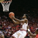 Indiana 's Yogi Ferrell (11) shoots during the second half of an NCAA college basketball game against Ball State, Sunday, Nov. 25, 2012, in Bloomington, Ind. Indiana won 101-53. (AP Photo/Darron Cummings)