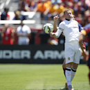 Manchester United's Wayne Rooney struggles for the ball against FC Barcelona during an International Champions Cup soccer match at Levi's Stadium, Saturday, June 25, 2015, in Santa Clara, Calif. (Terrell Lloyd/AP Images for Relevent Sports)