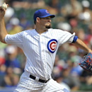 Chicago Cubs starting pitcher Jason Hammel delivers a pitch during the first inning of a baseball game against the Washington Nationals in Chicago, Friday, June 27, 2014 The Associated Press