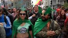 Chileans march for marijuana legalisation