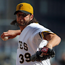 Pittsburgh Pirates relief pitcher Jason Grilli delivers during the ninth inning of a baseball game against the St. Louis Cardinals in Pittsburgh, Sunday, April 6, 2014. Grilli got the save in a 2-1 Pirates win The Associated Press