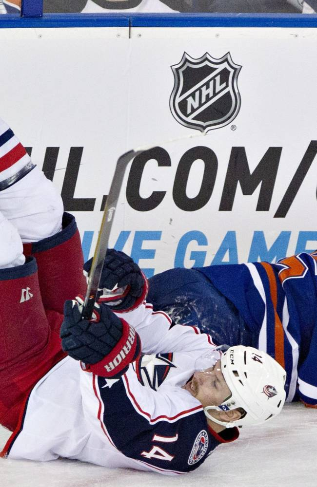 Oilers rout Blue Jackets 7-0