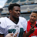 Philadelphia Eagles cornerback Bradley Fletcher talks with members of the media after NFL football training camp Monday, July 28, 2014, in Philadelphia The Associated Press