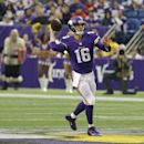 Minnesota Vikings quarterback Matt Cassel throws a pass during the first half of an NFL football game against the Detroit Lions, Sunday, Dec. 29, 2013, in Minneapolis The Associated Press