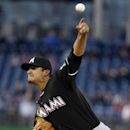 Miami Marlins starting pitcher Brad Hand throws during the first inning of a baseball game at Nationals Park Wednesday, April 9, 2014, in Washington The Associated Press