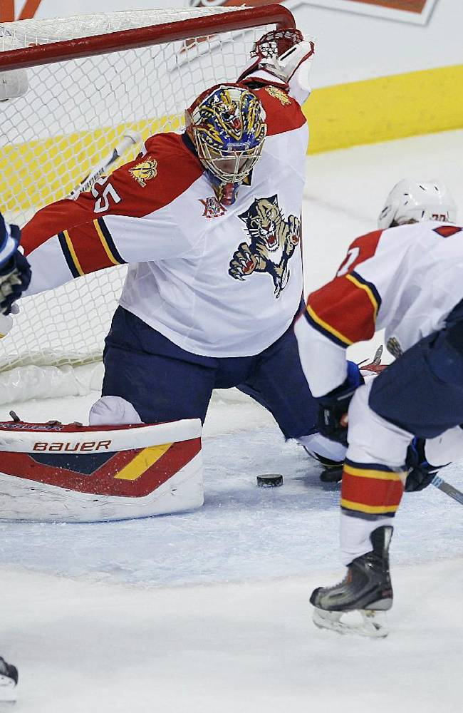 Jets beat Panthers 5-2 for rare home win
