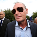Former England midfield soccer star Paul Gascoigne arrives at Stevenage Magistrates Court in Stevenage England Monday Aug. 5, 2013. Gascoigne has pleaded guilty to common assault and drunk and disorderly charges and was fined 1,000 pounds ($1,500). The 46-year-old Gascoigne, who has battled alcoholism, was arrested by British Transport Police at Stevenage rail station on July 4. (AP Photo/Chris Radburn/PA)