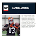 In this April 17, 2013, file photo, Cleveland Browns wide receiver Josh Gordon catches a pass during an NFL football practice in Berea, Ohio. Player representatives to the union will voted to implement HGH testing for the 2014 NFL season, Friday, Sept. 1