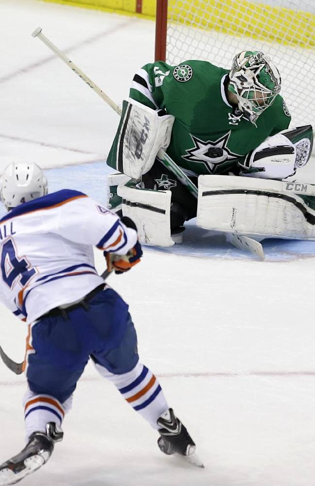 Stars snap 6-game skid with 5-2 win over Oilers