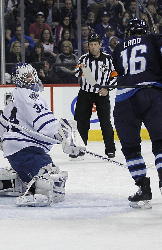 Byfuglien scores in OT to lift Jets past Leafs