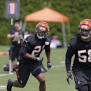 Cincinnati Bengals first round draft pick, cornerback Darqueze Dennard (21), runs a drill during the NFL football team's first practice at training camp, Thursday, July 24, 2014, in Cincinnati. (AP Photo) The Associated Press