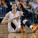 Phoenix Suns' Goran Dragic, of Slovnia, looks for a call during the first half of an NBA basketball game against the Memphis Grizzlies, Monday, April 14, 2014, in Phoenix The Associated Press