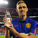 IMAGE DISTRIBUTED FOR GUINNESS INTERNATIONAL CHAMPIONS CUP - Manchester United midfielder Darren Fletcher (24) wins the Man of the Match Award during a match between Inter Milan and Manchester United in the 2014 Guinness International Champions Cup on Jul