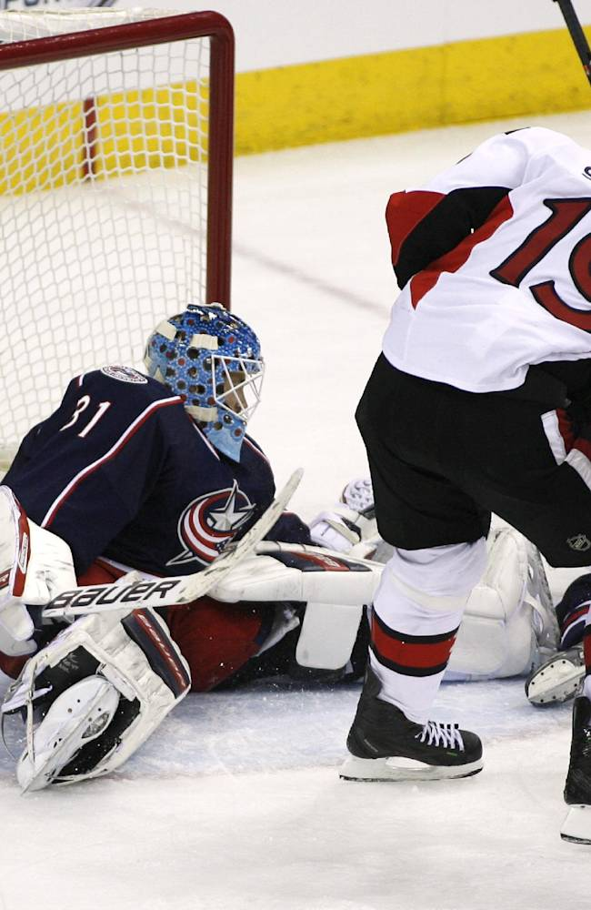 Spezza's late goal lifts Sens past Blue Jackets