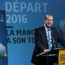 Tour de France General Director Christian Prudhomme delivers a speech during the presentation for the Tour de France 2016 departure from the Mont Saint-Michel December 9, 2014.  REUTERS/Jacky Naegelen