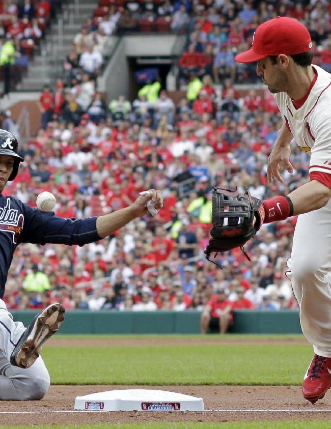Wong's legs lift Cardinals past Braves 4-1