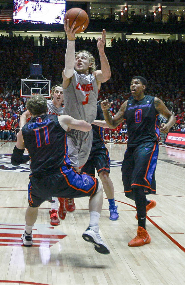New Mexico runs away from Boise State 84-75