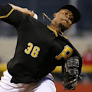 Pittsburgh Pirates starting pitcher Edinson Volquez delivers during the fourth inning of a baseball game against the Cincinnati Reds in Pittsburgh Tuesday, April 22, 2014 The Associated Press