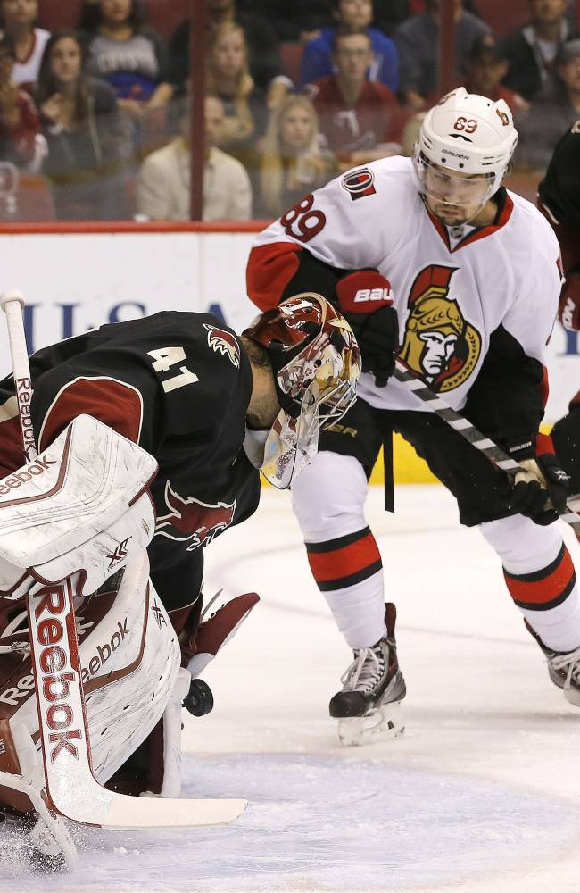 Ottawa beats Phoenix 4-3 to end four-game slide