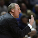 Ohio State head coach Thad Matta reacts from the sideline during the second half of an NCAA college basketball game against Penn State, Thursday, Feb. 27, 2014, in State College, Pa. Penn State won 65-63. (AP Photo/Ralph Wilson)