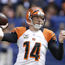 Cincinnati Bengals' Andy Dalton throws during the first half of an NFL football game against the Cincinnati Bengals, Sunday, Oct. 19, 2014, in Indianapolis The Associated Press