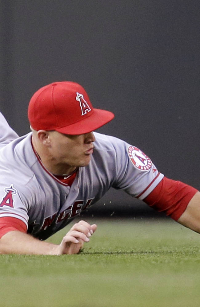 Angels star OF Trout out again with back trouble