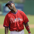 Philadelphia Phillies shortstop Jimmy Rollins waits to take batting practice before an exhibition baseball game against the Atlanta Braves Wednesday, March 5, 2014, in Clearwater, Fla The Associated Press