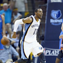 MEMPHIS, TN - APRIL 24: Mike Conley #11 of the Memphis Grizzlies celebrates against the Oklahoma City Thunder during Game 3 of the Western Conference Quarterfinals during the 2014 NBA Playoffs at FedExForum on April 24, 2014 in Memphis, Tennessee. (Photo by Andy Lyons/Getty Images)