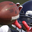 Houston Texans wide receiver Andre Johnson catches a ball during an NFL football training camp practice Sunday, July 27, 2014, in Houston The Associated Press