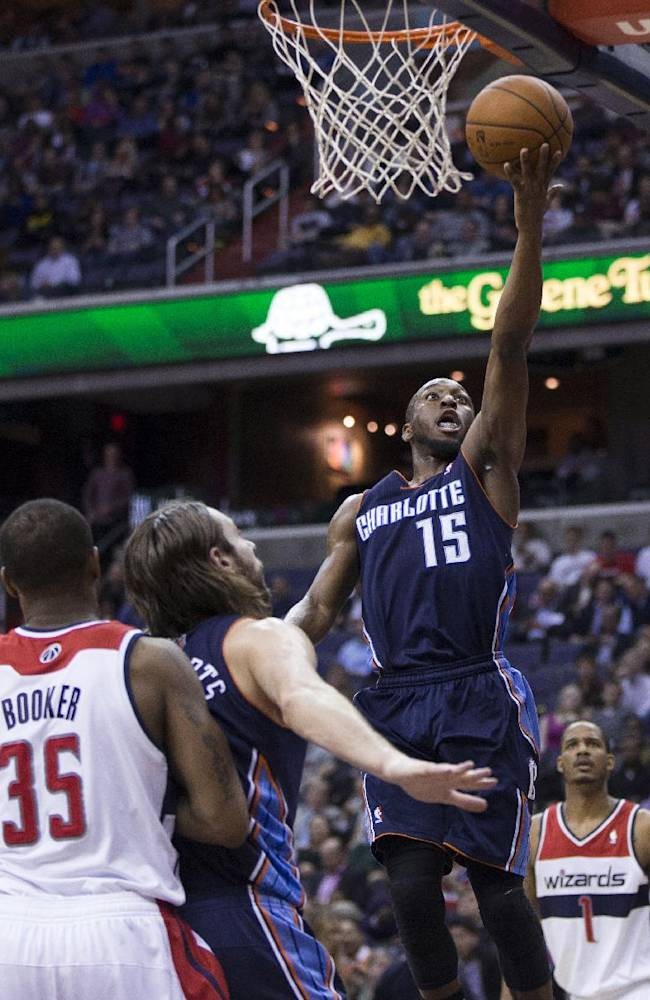 Playing with meaning, Bobcats top Wizards 98-85