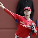 Philadelphia Phillies starting pitcher Kyle Kendrick throws a pitch during spring training baseball practice Thursday, Feb. 13, 2014, in Clearwater, Fla The Associated Press