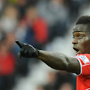Liverpool's Mario Balotelli points during the English Premier League soccer match between West Bromwich Albion and Liverpool at the Hawthorns, West Bromwich, England, Saturday, April 25, 2015. (AP Photo/Rui Vieira)